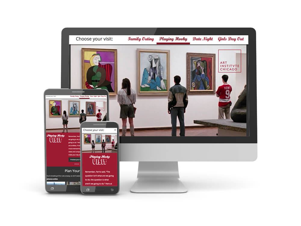 Screenshot of visitartinstitute.com
